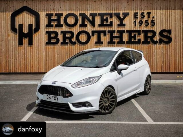 From classic 50's truck to one of our latest Honey Bros employee's car. Which is better?! 🤔😜   Posted with repost • @danfoxy #CarGuysOfficial #Ford #Fiesta #ST #ST180 #FiST #FiestaST #FiestaST180 #Eibach #MaxtonDesign #ST170wheels #CobraSport #FiestaOwners #FordOwners #BronzeWheels #BlueOval #FordPerformance #FastFord #TheFordBible #Ford4Life1 #Actboosters #Ford_rus #iGotFordFever #FordFever #STNation #FordsOfInstagram