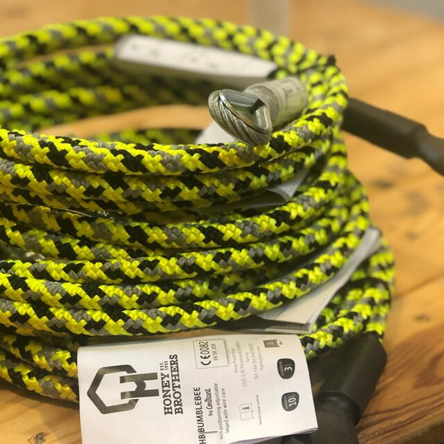 The Bumblebee wirecore lanyard is the first 'joined' adventure product by Honey Brothers and Courant 🐝 🤝    We have now been selling the fliplines for 6 months and it continues to be a best seller for us ⭐️💥    Available in various sizes and variations 👌🏼  •  •  •  #honeybrothers #courant #fliplines #arborist #arb #arblife #arbdealer #bumblebee #arbgear