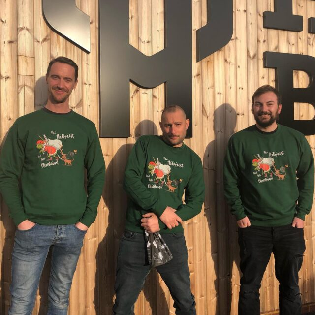 Looking for a Christmas jumper for yourself or your team? Look no further 👀   Our Christmas jumpers have landed! 🎄❄️ 🎅  • • • #honeybrothers #arb #Christmasjumper #arboristthatstolechristmas #arborist #grinch #arbmerch