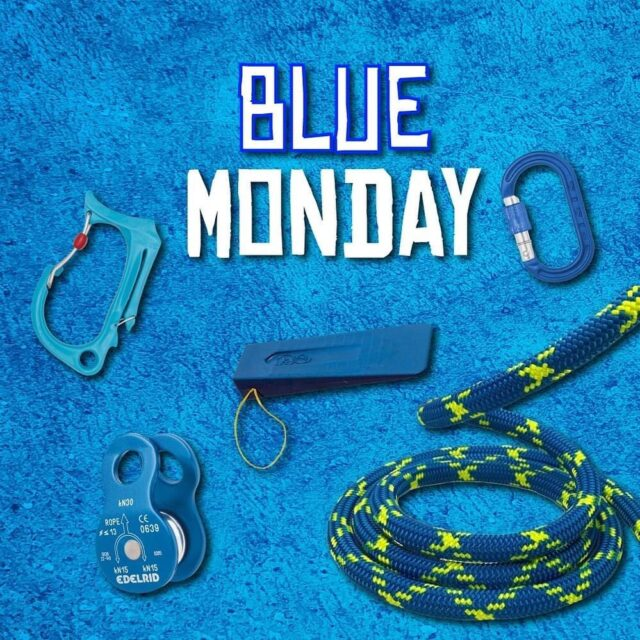 ✨COMPETITION!✨  With Blue Monday around the corner, we thought it was the right time for a competition to win the following:  -Courant Honos Tool Clip  -DMM Screwgate XSRE Clip  -FTC Wedge  -Edelrid Pulley  -30 metres of Drayer Tango Static Rope  To enter, tag someone who needs cheering up this Jan 😃💙  The winner will be announced on Monday 18th January 2021.