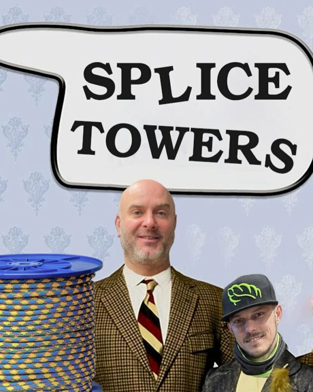 For the latest news on what's happening down at Fawlty, we mean Splice towers, head over to @the_splicing_guru for all the goss from Basil and Manuel 👴🤵   #splicetowers #honeybrothers #ropesplicing #honeybros #arboristropes #arbclimbingropes #riggingropes #arborist #arb #arblife #arbropes