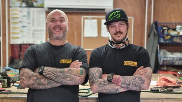 Rope splicing workshop now live! 🧵On 08/07/21 @the_splicing_guru  and @atattooedarborist will be hosting a rope splicing workshop at Honey Brothers.This workshop will provide an insight for anyone who carries out detailed PPE inspections on spliced arboricultural ropes.Limited to 6 Tickets 💥#honeybros #honeybrothers #arborist #treesurgeon #arbclimber #treeclimber #splicing