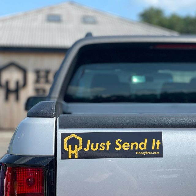 You can never have too much honey brothers in your life 😉 🍯   We have limited numbers of these car bumper stickers available, add BUMPERSTICKER to your orders notes and you might get one added 👌   #honeybros #honeybrothers #bumperstickers #justsendit #arb #arbstickers #arblife