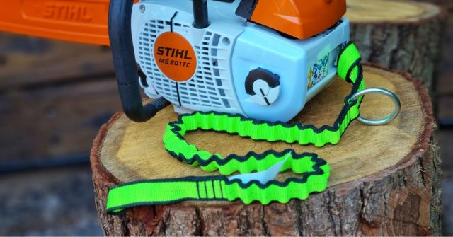 NLG Chainsaw lanyards now available as bungee or flat webbing.  Bright neon green for easy visibility and high-strength, wear resistant nylon webbing for extended life.  #honeybros #honeybrothers #nlg #neverletgo #chainsawlanyard #bungeelanyard #chainsawaccesories  #arblife #arborist #climbing #treelife #arboriculture #treework