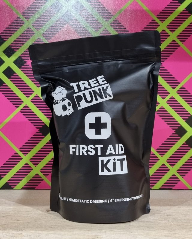 """Keep yourself prepared at all times with the brand new @tree_punk First Aid Kit.  Kit Contains; 🤕 Emergency 4"""" Israeli Bandage  🩸 ACT-Tourniquet 🚑 Woundclot trauma gauze hemostatic dressing  #honeybros #treepunk #firstaid #tourniquet #safetyfirst  #arborist #treework #arblife #treesurgery"""
